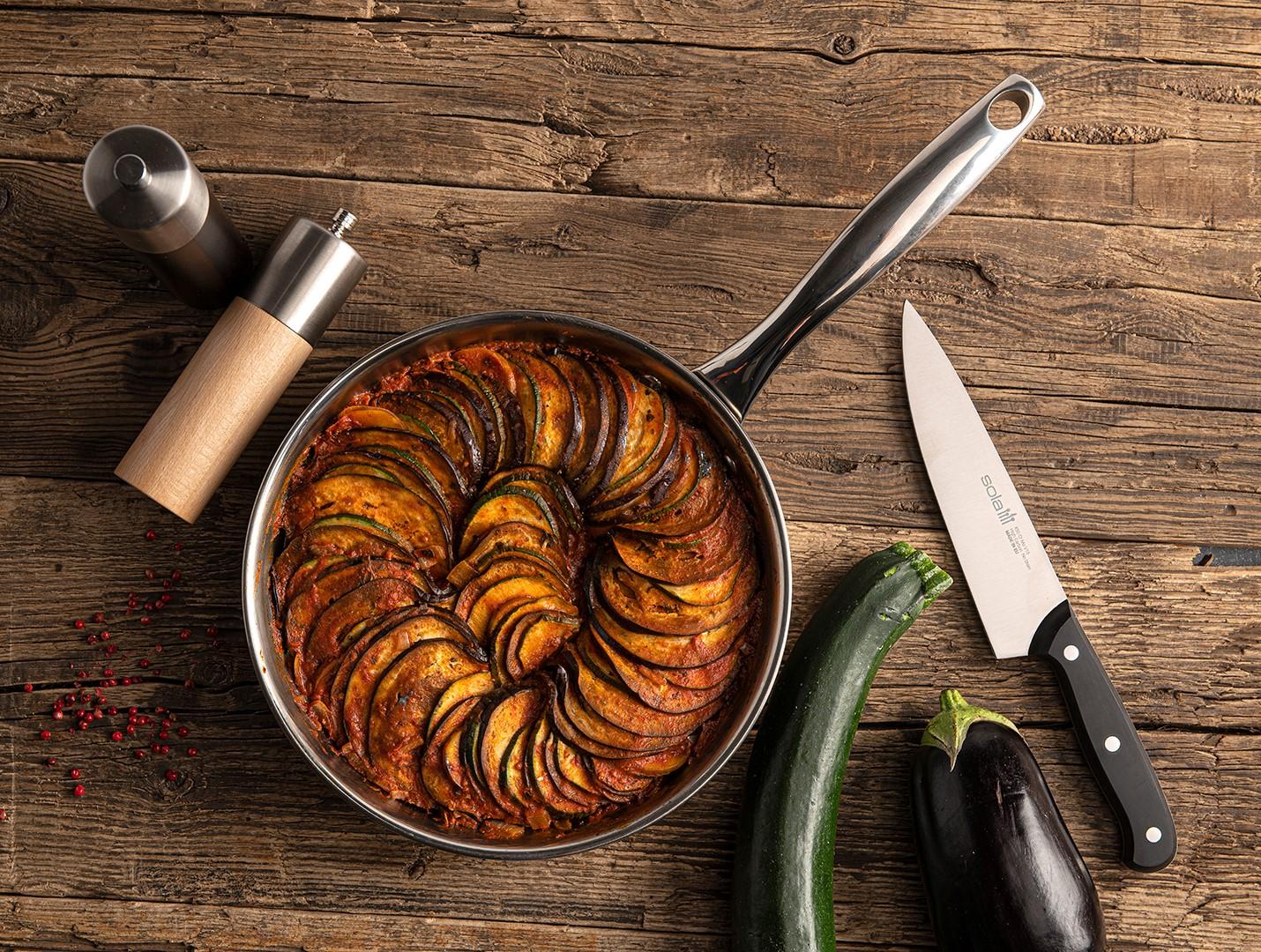 Ratatouille in een pan