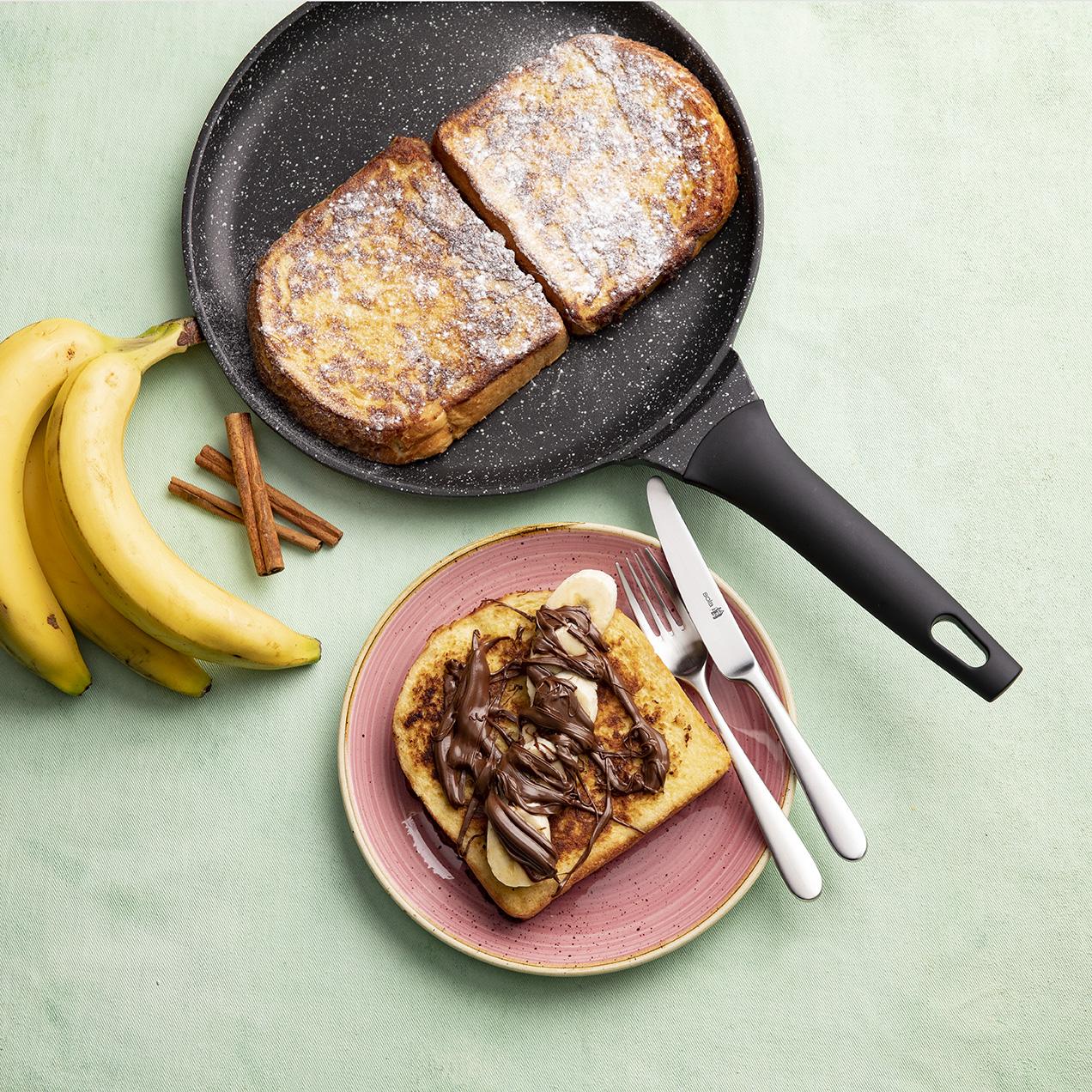 Wentelteefjes met nutella en banaan